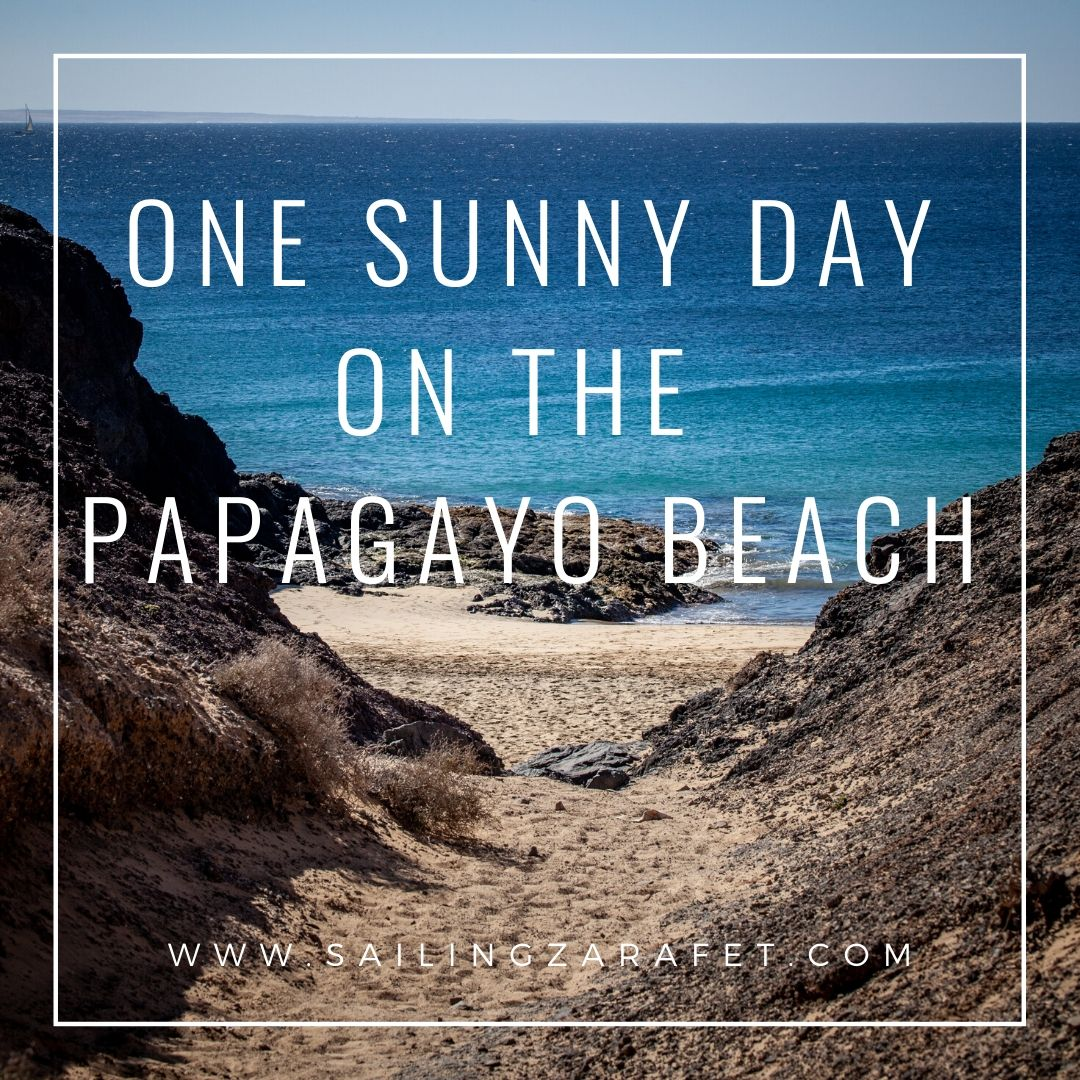 One sunny day on Papagayo Beach. Missing being on the water. Just few more weeks... Jan is lovely here in Lanzarote. Today 24 deg. Water little bit to cold -19 deg.