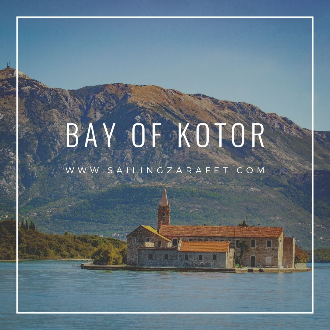 Bay of Kotor is a large bay and it's coast is covered with charming towns and the mountainsides create incredibly spectacular images. The whole bay is one big viewpoint. Unfortunately, anchoring in many places is not easy and catabatic winds often pull the boats out of anchor. That is why we decided to stay in a safe place, hidden behind Sveti Marco. To Kotor, which we visited today, we have just 10 miles and to Tivat only 1. It is a great starting point to explore the area and from the place where we are we have a great view of the small island with a monastery.