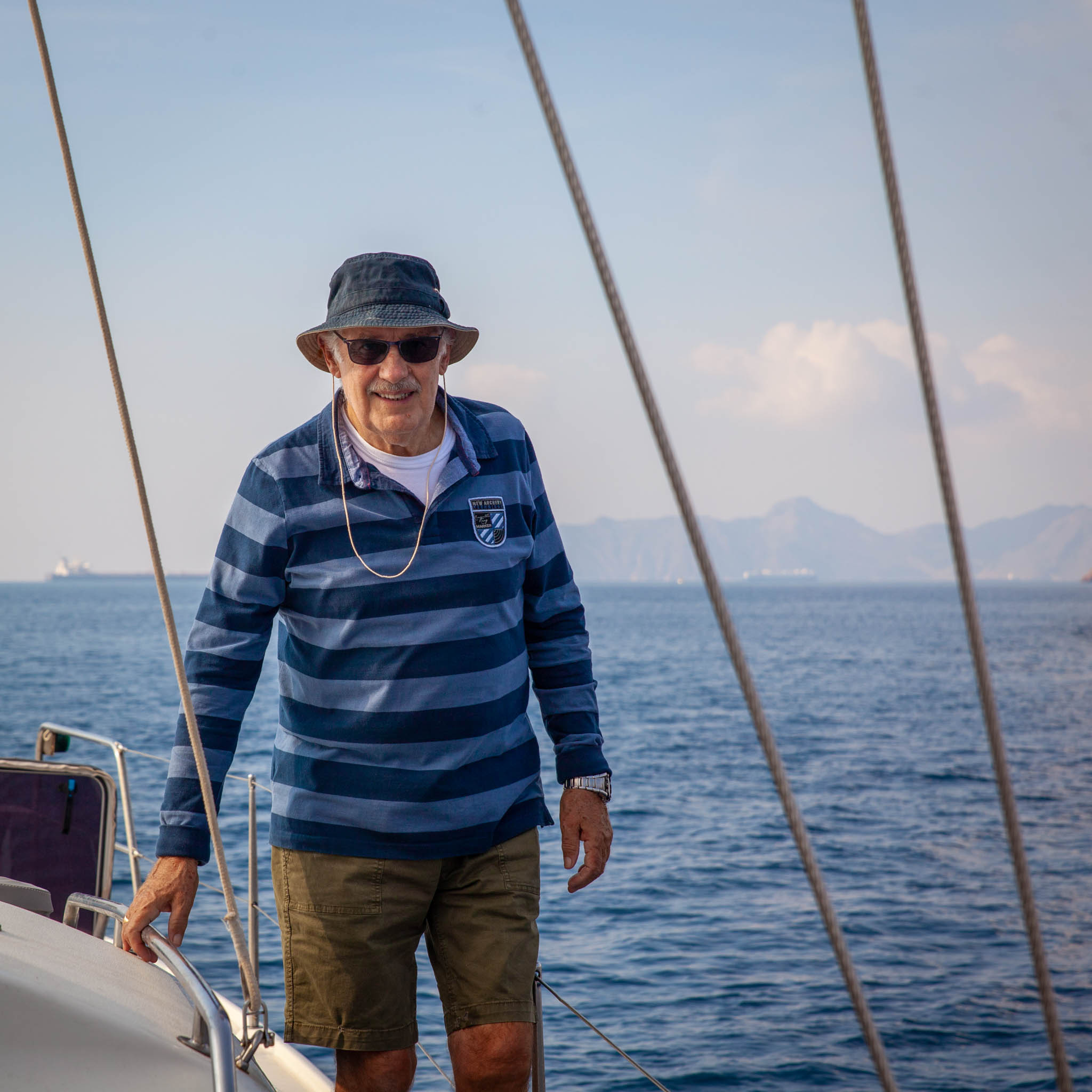 Michael - Michael's father. Yes they have exactly the same name:) From him all dreams started. He  was introducing Michael jnr to sailing in his childhood. We were lucky he did agree to sail with us from Cartaghena (Spain) to Lanzarote (Canary Islands.)